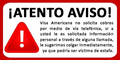 Aviso Visa Americana